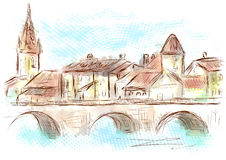 Lyon Frankrijk royalty-vrije illustratie