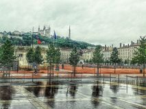 Lyon Frankrike Arkivfoto