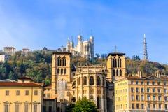 Lyon gammal stad, Frankrike Fotografering för Bildbyråer