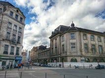 Lyon gammal stad och den gamla byggnaden av det Lyon sjukhuset, Vieux Lyon, Frankrike Fotografering för Bildbyråer