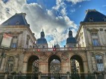 Lyon hotell de ville, Lyon gammal stad, Frankrike Arkivbild