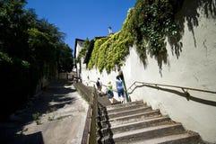 Lyon narrow street Royalty Free Stock Photo