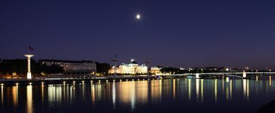 Lyon by night Royalty Free Stock Photo