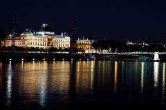 Lyon by night 2 Stock Image