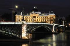 Lyon by night Royalty Free Stock Image