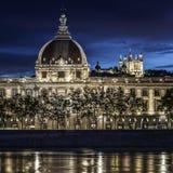 Lyon by night Stock Photo