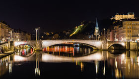 Lyon by night Stock Photography