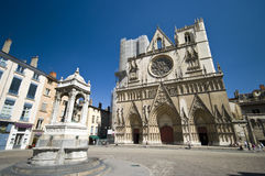 Lyon Notre Dame cathedral Royalty Free Stock Photo