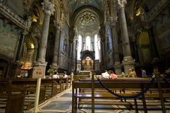 Lyon Notre Dame cathedral Royalty Free Stock Photography
