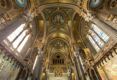 Lyon Notre-Dame de Fourviere Church Royalty Free Stock Photography