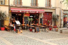 Lyon old street Cafe Royalty Free Stock Photo