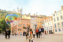 Life at Lyon old town Royalty Free Stock Photos