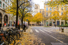Lyon old town in autumn Stock Images