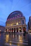 Lyon Opera by night, France. The Opera Nouvel (Nouvel Opera House) in Lyon by night, France. February, 2015 Royalty Free Stock Image