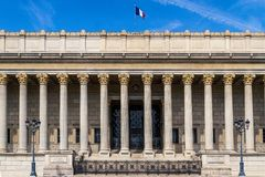 Lyon palace of justice royalty free stock images