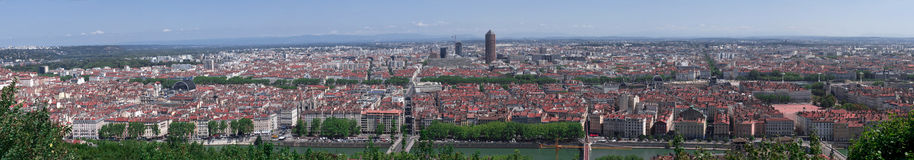 Lyon panorama Royalty Free Stock Photo