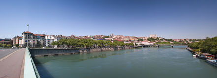 Lyon-Panorama stockbilder