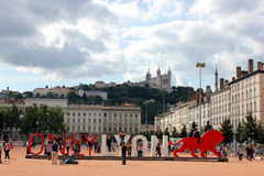 Lyon, Place Bellecour, Rhone-Alpes Stock Photography