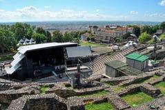 Lyon, römische Arena vor dem Konzert Lizenzfreie Stockfotos