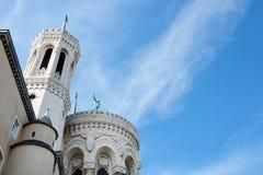 Lyon Rhone-Alpes, Frankrike - Maj 19: Basilika av Notre Dame de Fourviere Fotografering för Bildbyråer