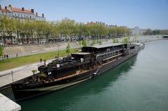Lyon Rhone river panorama Stock Photo
