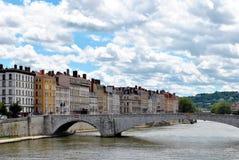 Lyon, rivière Saone Photos stock