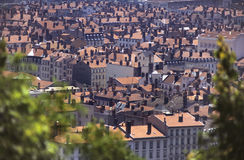 Lyon roofs Stock Image