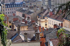 Lyon roofs Royalty Free Stock Photo