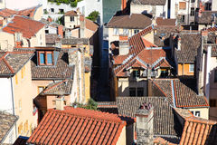 Lyon, rooftops Royalty Free Stock Photos