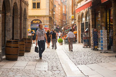 Lyon Rue St. Jean Shopping Street Stock Photos
