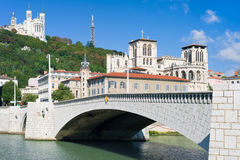 Lyon and Saone river in a summer day Royalty Free Stock Image