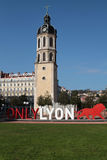 Only Lyon sign in Place Poncet Royalty Free Stock Photo