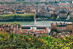 Lyon skyline Royalty Free Stock Photography