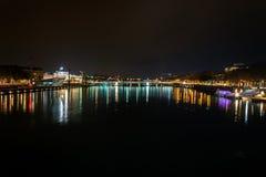 Lyon skyline during Festival of lights Stock Images