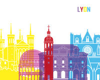 Lyon skyline pop Royalty Free Stock Image