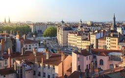 Lyon soluppgång Arkivbilder