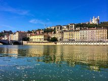 Lyon stad Frankrike Royaltyfria Bilder