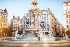Lyon stad i Frankrike Royaltyfri Fotografi