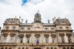 Lyon stadshus, Hotell de Ville Fotografering för Bildbyråer
