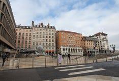 Lyon stadsmitt france Arkivfoton