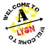Lyon-Stempelgummischmutz Lizenzfreie Stockfotografie