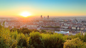 Lyon sunrise Royalty Free Stock Photo