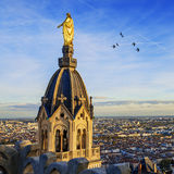 Lyon by sunset Royalty Free Stock Image