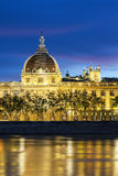Lyon at sunset with Rhone river Stock Image