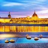 Lyon by sunset in summer Royalty Free Stock Photos