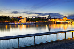 Lyon by sunset in summer Stock Photo