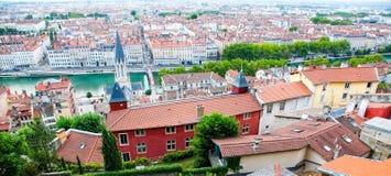 Lyon, tejados Fotografía de archivo libre de regalías