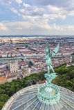 Lyon from the top of Notre Dame de Fourviere Royalty Free Stock Images