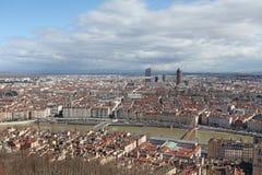 Lyon van hierboven, Frankrijk Stock Afbeeldingen