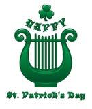 lyra Ιρλανδικό μουσικό όργανο Σύμβολο ημέρας Patricks Στοκ Εικόνα